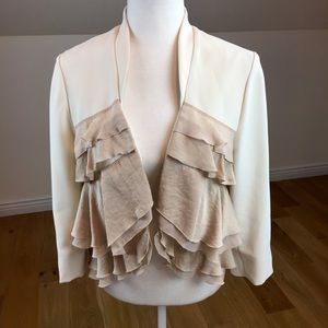 Anthropologie Elevenses Cream Blazer Size 6